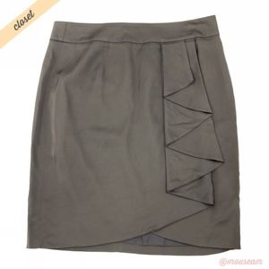[Trina Turk] Ruffle Front Faux-Wrap Skirt NWOT